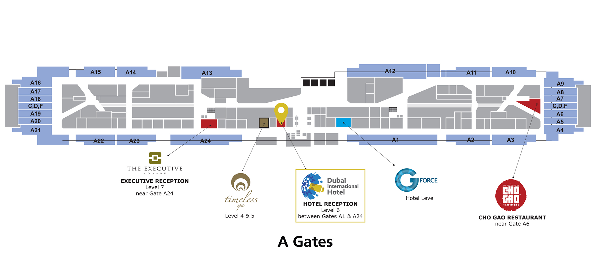 Dubai International Airport Hotel | Hotel-Location Map on