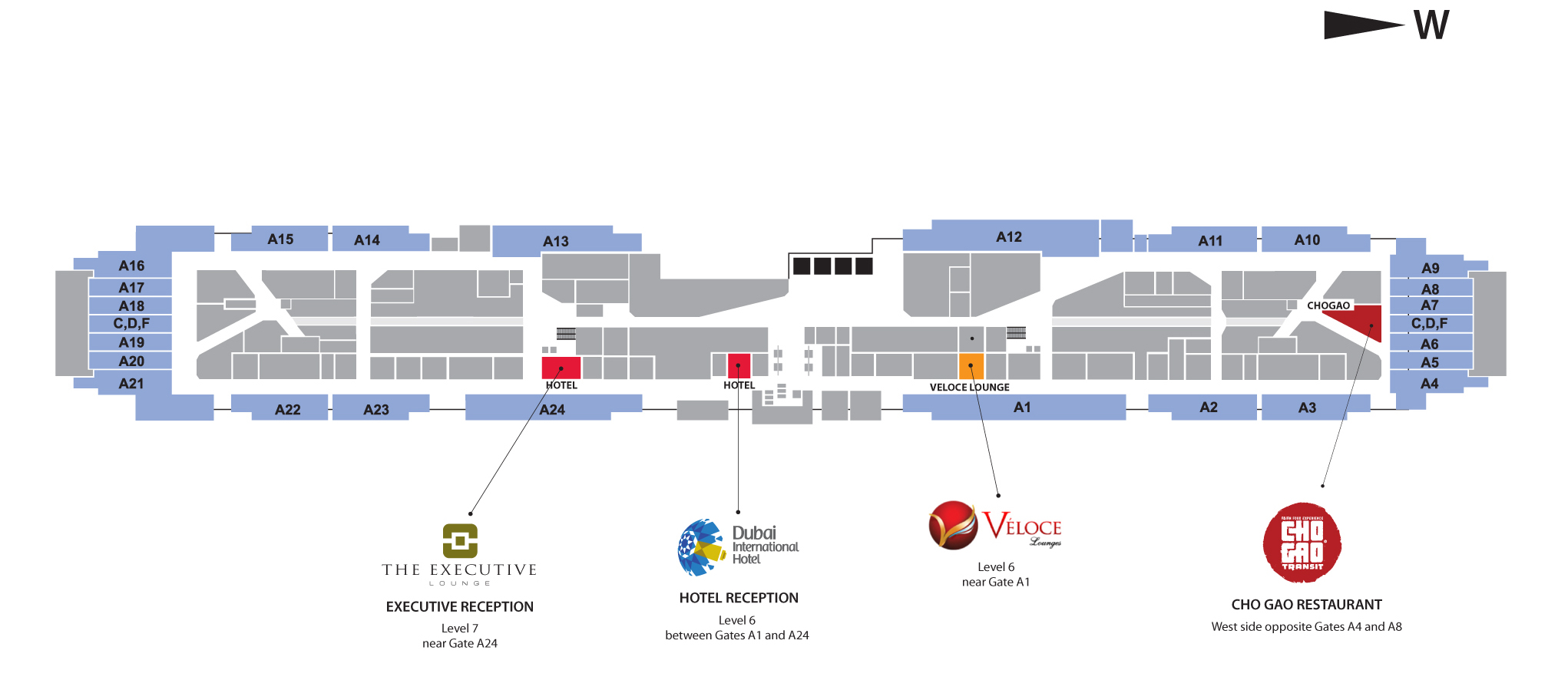 Dubai International Airport Hotel | Hotel-Location Map