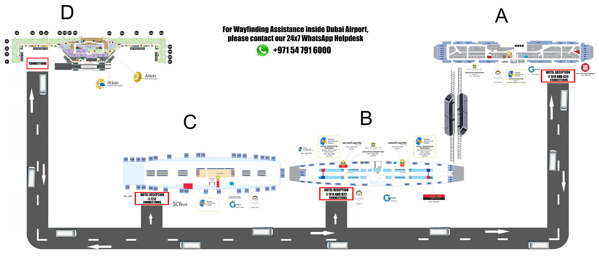 Dubai International Airport Hotel Hotel Location Map